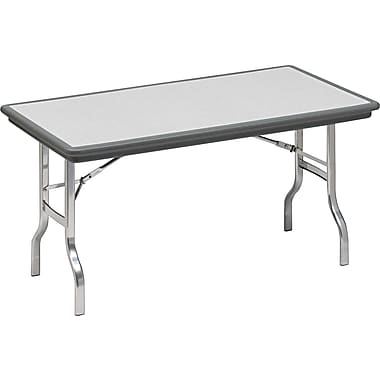 Iceberg 8' Indestruc-Tables™ Folding Table, Charcoal