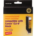 Staples® Remanufactured Black Ink Cartridge Compatible with Canon® CLI-8