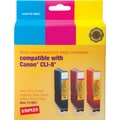 Staples® Remanufactured Color Ink Cartridges Compatible with Canon® CLI-8, 3/Pack