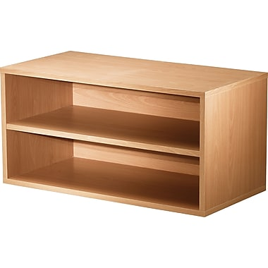 Foremost® Hold'ems Modular Cube Storage System, Honey Oak 15in.H x 30in.W x 15in.D Shelf Double Cube