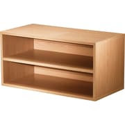 Foremost® Hold'ems Modular Cube Storage System, Honey Oak 15H x 30W x 15D Shelf Double Cube