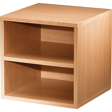 Foremost® Hold'ems Modular Cube Storage System, Honey Oak 15in.H x 15in.W x 15in.D Shelf Cube