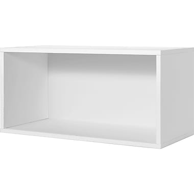Foremost® Hold'ems Modular Cube Storage System, White 15in.H x 30in.W x 15in.D Open Double Cube