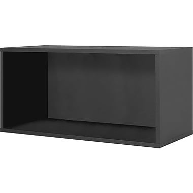Foremost® Hold'ems Modular Cube Storage System, Black 15in.H x 30in.W x 15in.D Open Double Cube