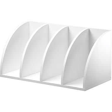 Foremost® Hold'ems Modular Cube Storage System, White 30in.H x 15in.W x 15in.D Corner Radius Table