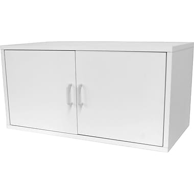 Foremost® Hold'ems Modular Cube Storage System, White 15in.H X 30in.W X15in.D Large Cube with Two Doors