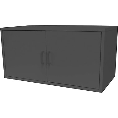 Foremost® Hold'ems Modular Cube Storage System, Black 15in.H X 30in.W X 15in.D Large Cube with Two Doors