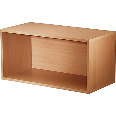 Foremost® Hold'ems Modular Cube Storage System, Honey Oak 15in.H x 30in.W x 15in.D Open Double Cube
