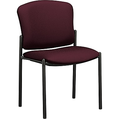 HON® Pagoda 4073 Polyester Stacking Armless Chairs, Wine, 2/Pack