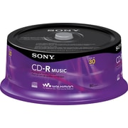 Sony 30/Pack 80-Minute CD-R Music, Spindle