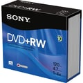 Sony 10/Pack 4.7GB DVD+RW, Jewel Cases