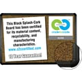 Best-Rite® Black Splash-Cork Board, 4' x 3'