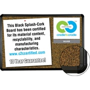 Best-Rite Cork Board, Black Splash, 6' x 4'