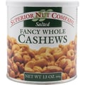 Superior Nuts Salted Fancy Whole Cashews, 13 oz.
