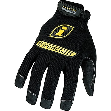 Ironclad® General Utility Spandex Gloves, Black, Large