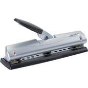 Swingline® EasyView™ LightTouch® Desktop 2-and 3-Hole Punch, 12 Sheet Capacity/20 lb., Black/Silver