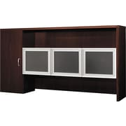 Hon®  Attune Series Stack-on with Storage Cabinet, Frosted Glass Doors, Mahogany