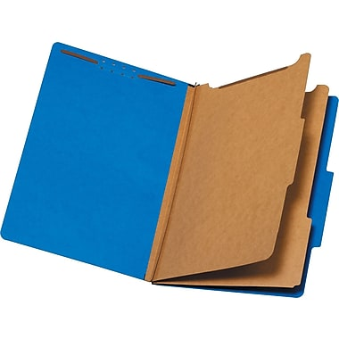 Staples® Brightly Colored Classification Folder, 2/5-Cut Tab, 2 Partitions, Each (98729S)