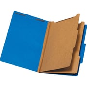 Staples® Brightly Colored Classification Folders, Legal, 2 Partitions, Blue, Each