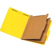 Staples® Brightly Colored Classification Folders, 2/5-Cut Tabs, 2 Partitions, 5/Pack (98717S)