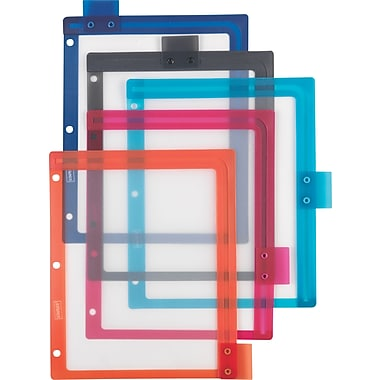 Staples® Better™ dividers with Sliding Tabs, Assorted Colors