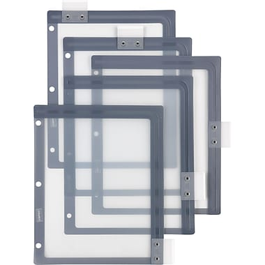 Staples® Better™ dividers with Sliding Tabs, Clear