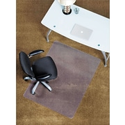 "ES Robbins Anchormat™ Chairmat, For Medium Pile Carpets, No Lip, Rectangular, 46"" x 60"""