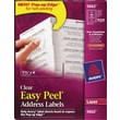 Avery® Clear Laser Address Labels with Easy Peel®