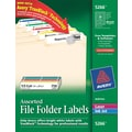 Avery® 5266 Assorted Colors Permanent File Folder Labels with TrueBlock, 750/Pack