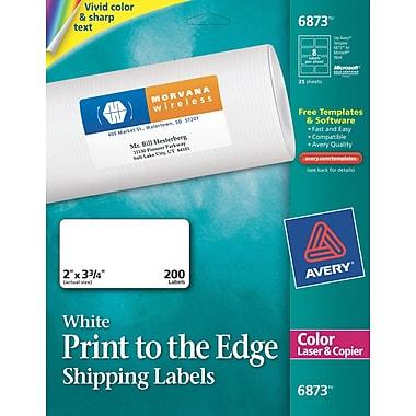 avery color printing matte white laser address labels staples. Black Bedroom Furniture Sets. Home Design Ideas