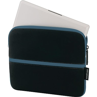 Targus Slipskin Netbook Sleeve, Black with Blue Accents, 10.2in.