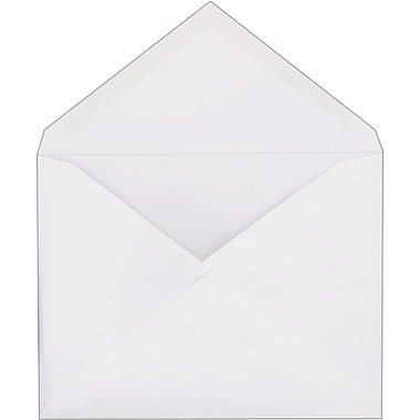 Staples® Invitation Envelopes with Gummed Closure, White, 100/Box