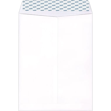 Staples Easy Close Wove Catalog Envelopes, White, 100/Box (379476/19025)