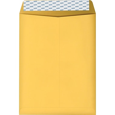 Staples Brown Kraft EasyClose Catalog Envelopes, 10