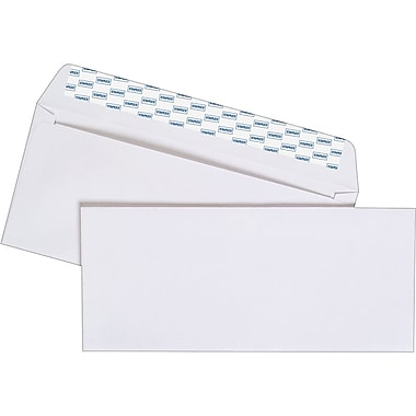 Staples® #10, QuickStrip Laser & Inkjet Envelopes, 100/Box