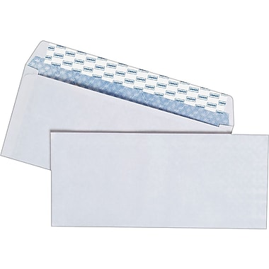Staples Easy Close #10 Security-Tint Envelopes, 100/Box (394057/19037)