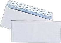 Staples EasyClose Security Tint #10 Envelope, 4-1/8' x 9-1/2', White, 500/Box (787385)