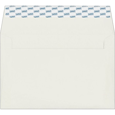Staples EasyClose Invitation Envelopes, White, 100/Box (394063/19191)