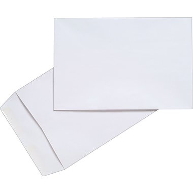 Staples Flap Seal White Wove Catalog Envelopes, 10