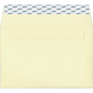 Staples® EasyClose Invitation Envelopes, Ivory, 100/Box