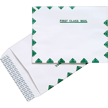 Staples® First-Class EasyClose® Catalog Envelopes, White, 100/Box