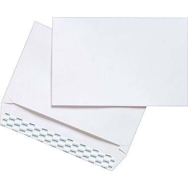 Staples® 6in. x 9in. White Wove Side-Opening QuickStrip Booklet Envelopes, 250/Box