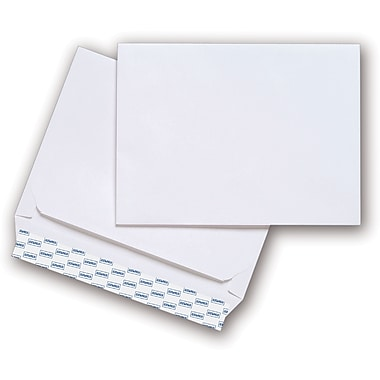 Staples® 9in. x 12in. White Wove Side-Opening QuickStrip Booklet Envelopes, 100/Box