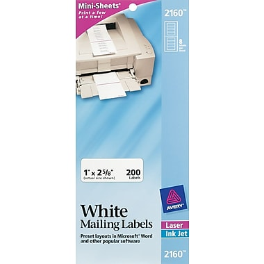 Avery® Mini-Sheets™ Inkjet/Laser Address Labels
