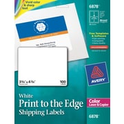 Avery color printing matte white laser shipping labels for Staples white mailing labels template