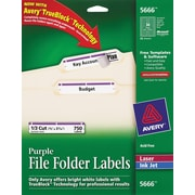 Avery® 5666 Purple Permanent File Folder Labels with TrueBlock™, 750/Pack