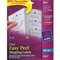 Avery® Clear Inkjet Shipping Labels with Easy Peel®