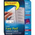 Avery 5960 White Laser Address Labels with Easy Peel®, 1in. x 2-5/8in., 7,500/Box