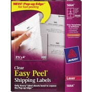 avery clear laser shipping labels with easy peel staples