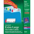 Avery® 5026 Extra-Large Assorted Colors Permanent File Folder Labels with TrueBlock, 450/Pack